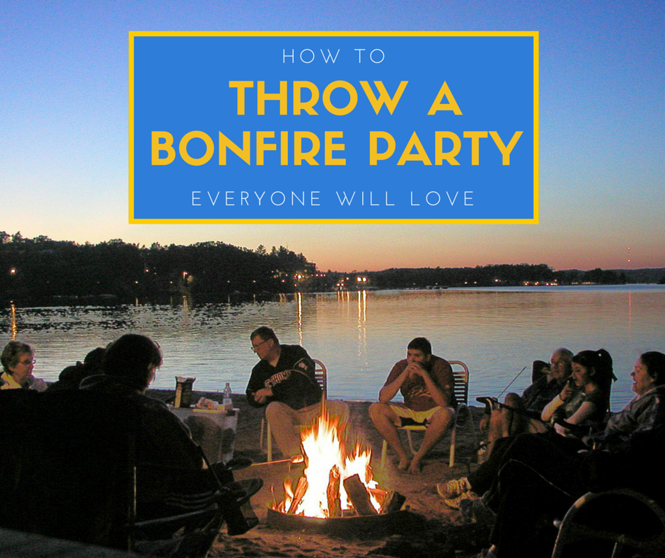 Learn how to throw a bonfire party