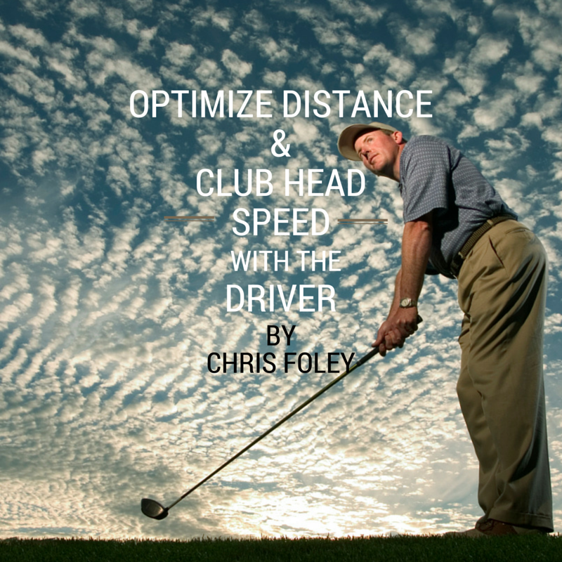 Chris Foley focuses on his club head speed as he prepares for his golf swing.