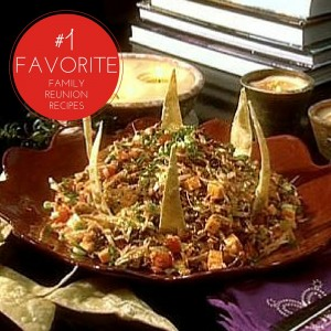 Taco salad is one of our favorite family reunion recipes