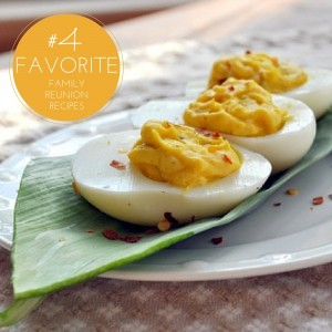 old fashioned deviled eggs is one of our favorite family reunion recipes