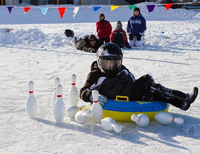 fun winter activities for kids – sledding at Cragun's Resort