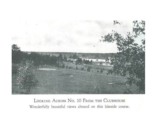 Historic photo of the view from the Pine Beach Hotel and Clubhouse