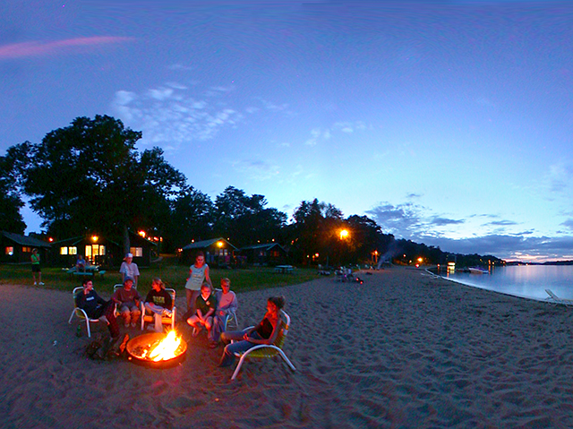 Beach Bonfire at Cragun's Resort