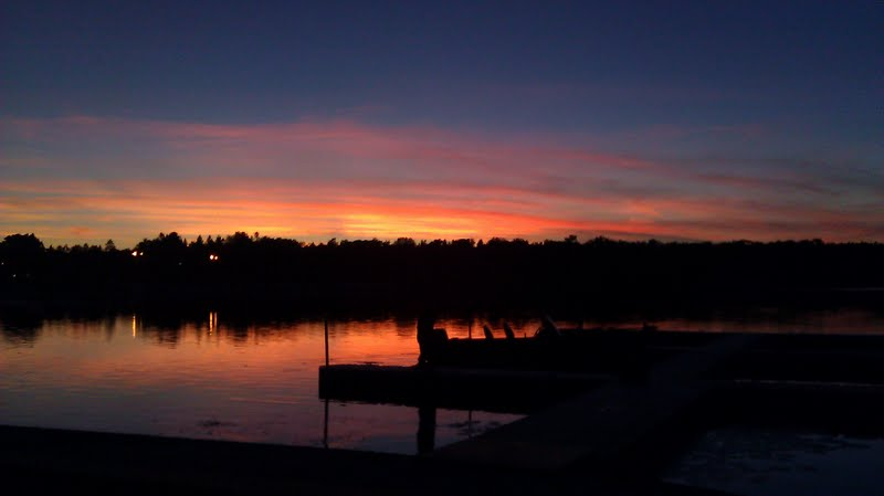 Beautiful sunset at Cragun's Resort