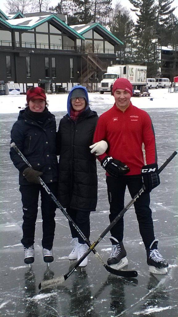 Ice skating at Cragun's Resort in Brainerd Minnesota