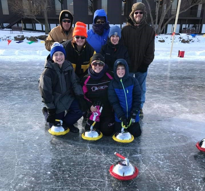 Curling at Cragun's Resort on Gull Lake