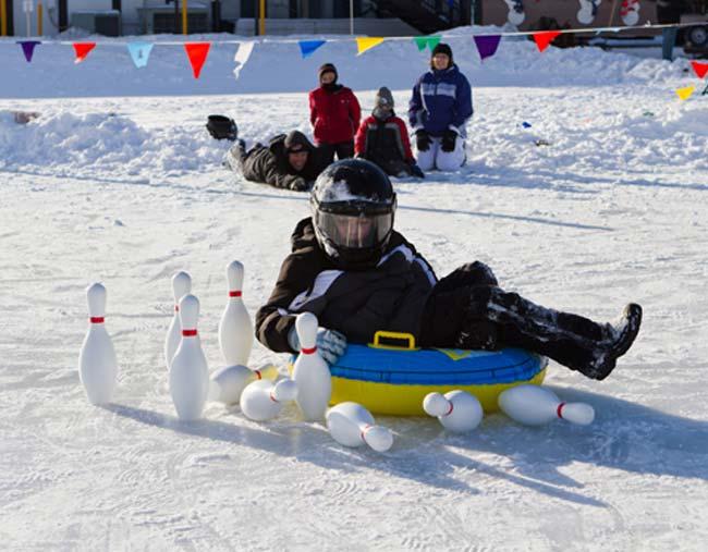 Ice Bowling at Cragun's Resort