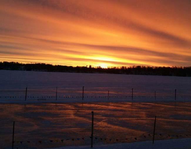 Winter Sunrise at Cragun's Resort on Gull Lake