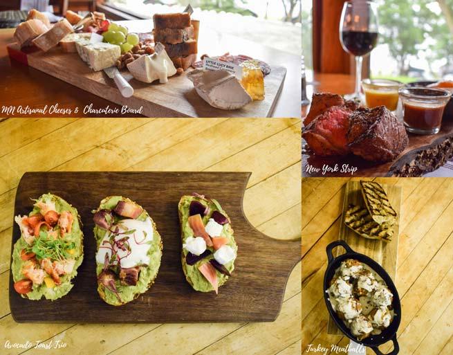 Irma's Kitchen at Cragun's Cheese Board, New York Strip. Turkey Meatballs, Toast Trio