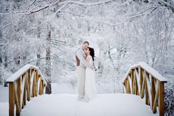 Winter Wedding Bridge 1