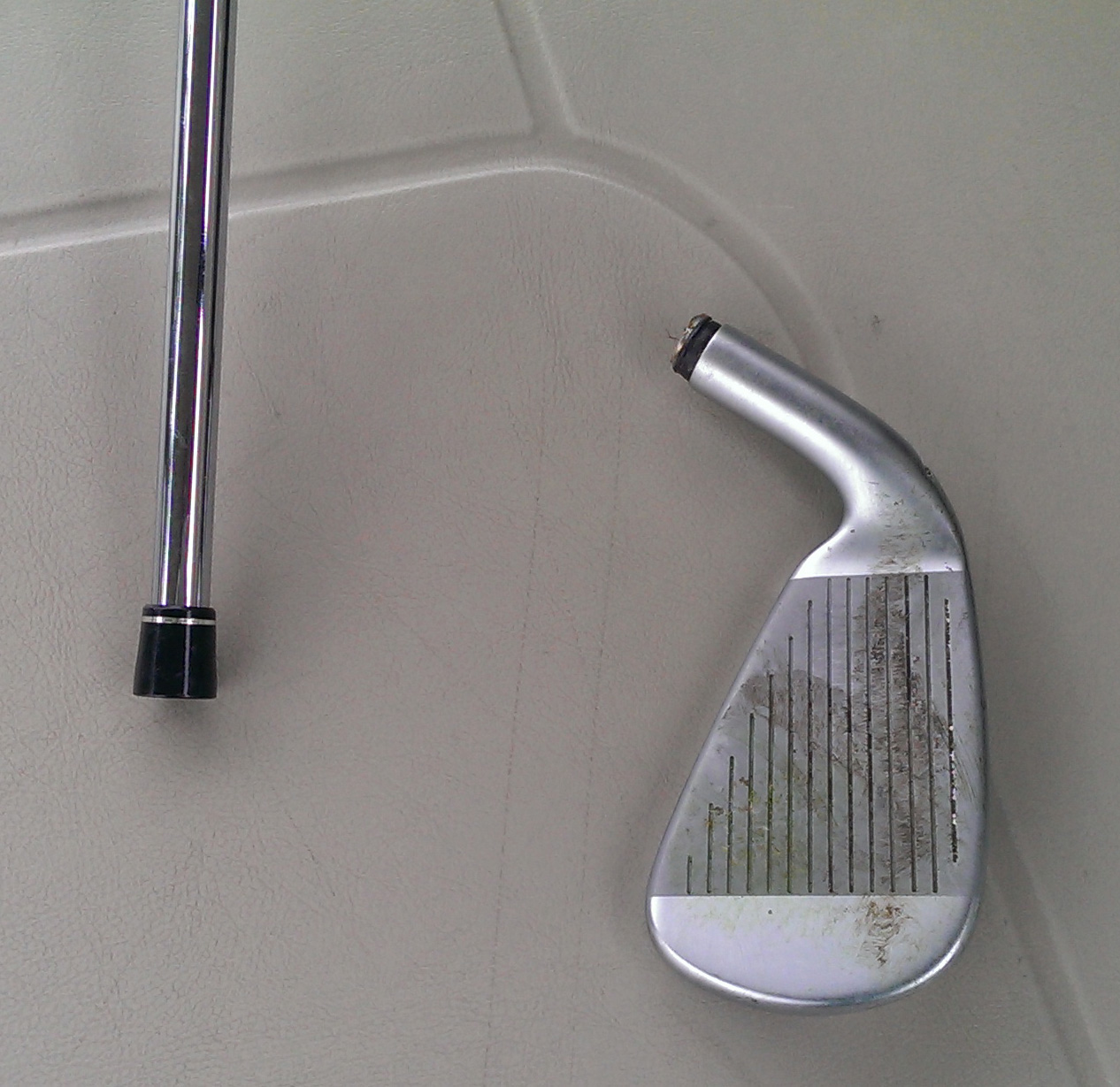 Snapped my 3-iron.