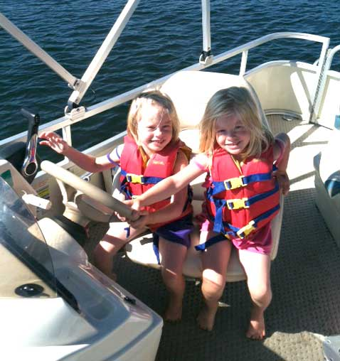 Our twin daughters on our trip to Cragun's over Labor Day weekend last year. We all had a great time!