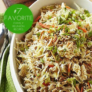 oriental coleslaw is one of our favorite family reunion recipes