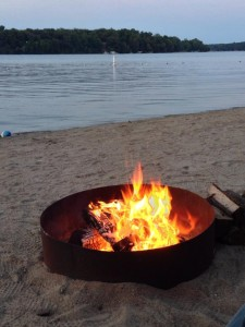 Lakeside bonfire at Cragun's Brainerd Resort