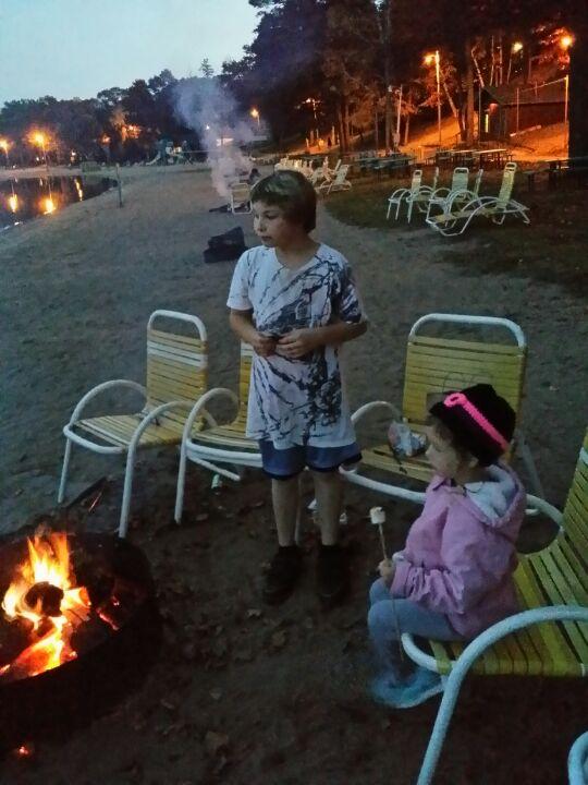Cragun's lakeside bonfires