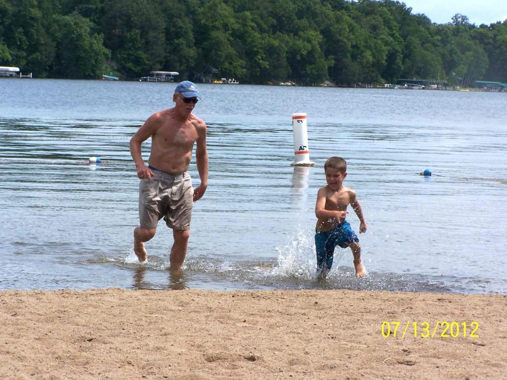 grandpa and grandson race