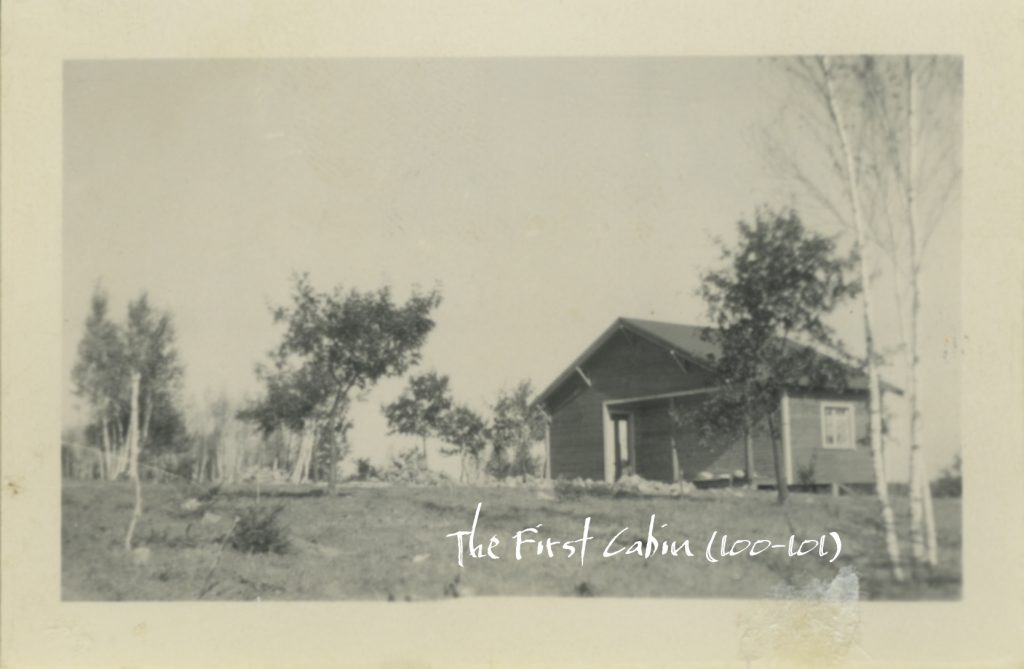 The First Cabin Built at Cragun's Resort in Minnesota