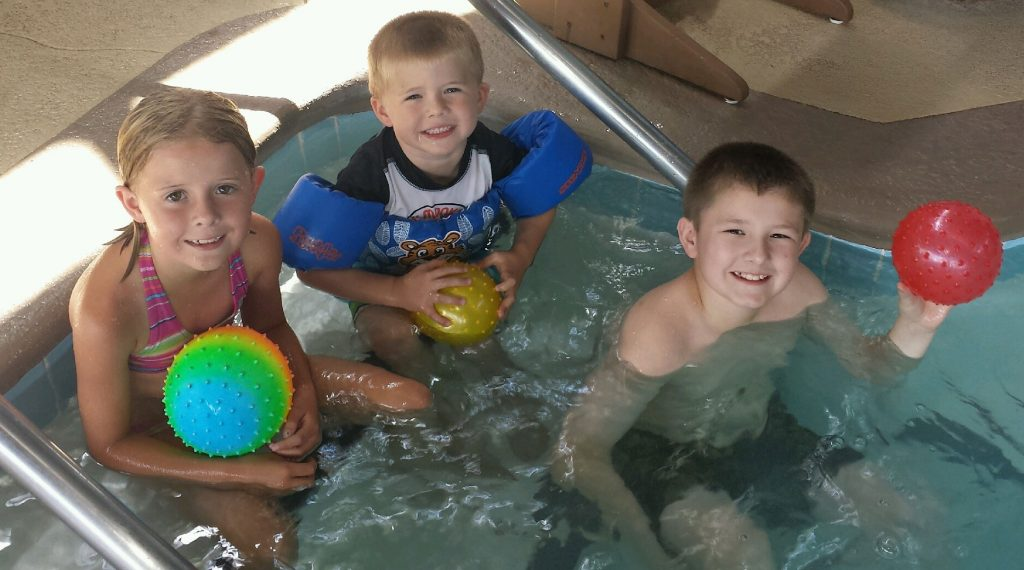 Kids swimming at Cragun's Resort in Brainerd