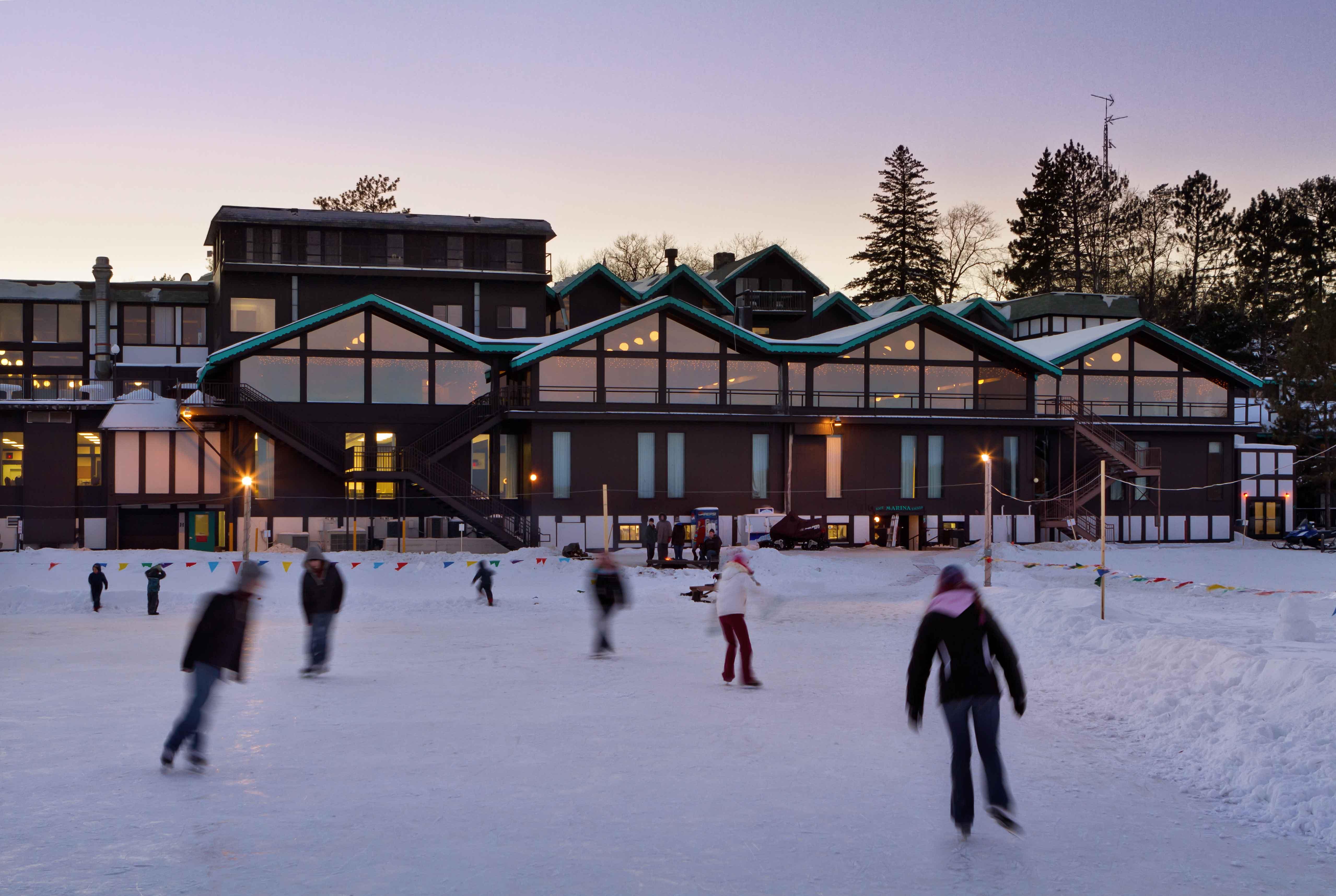 Ice skating in Brainerd