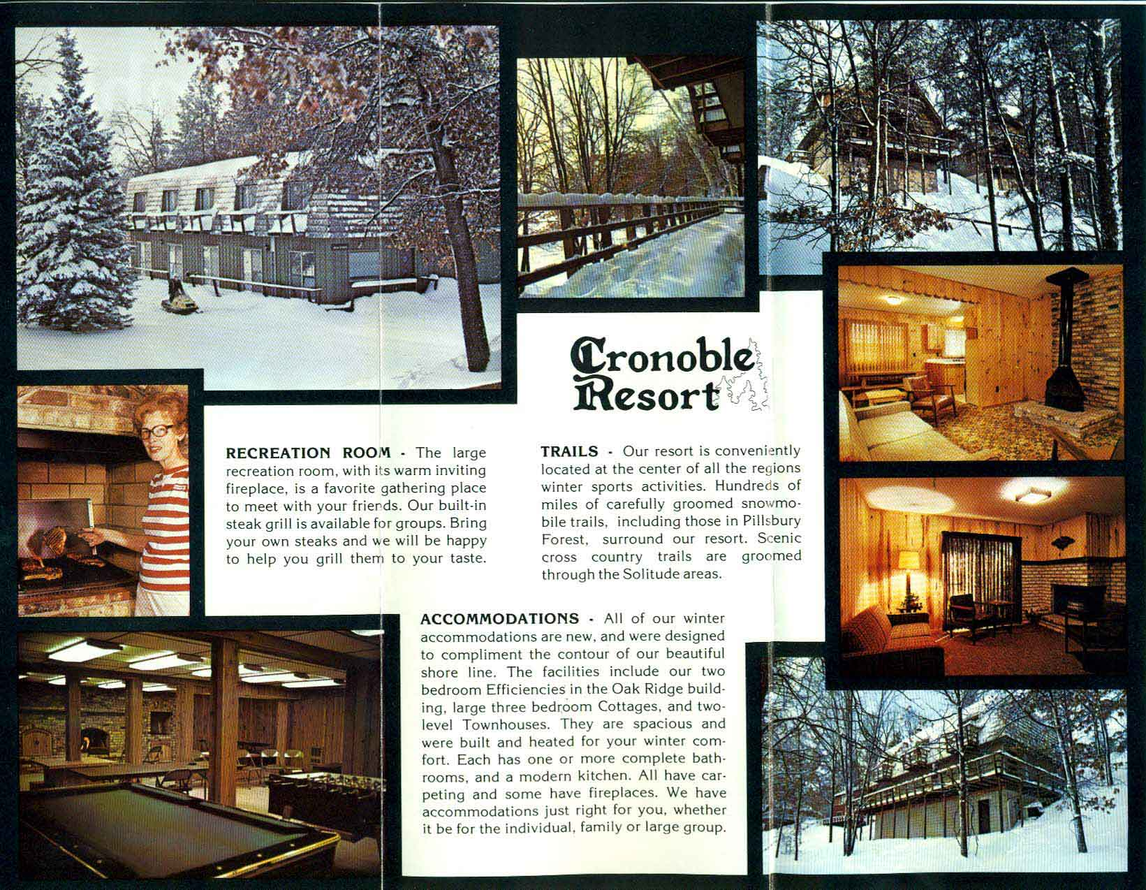 Picture collage of the former Cronable Resort in Brainerd