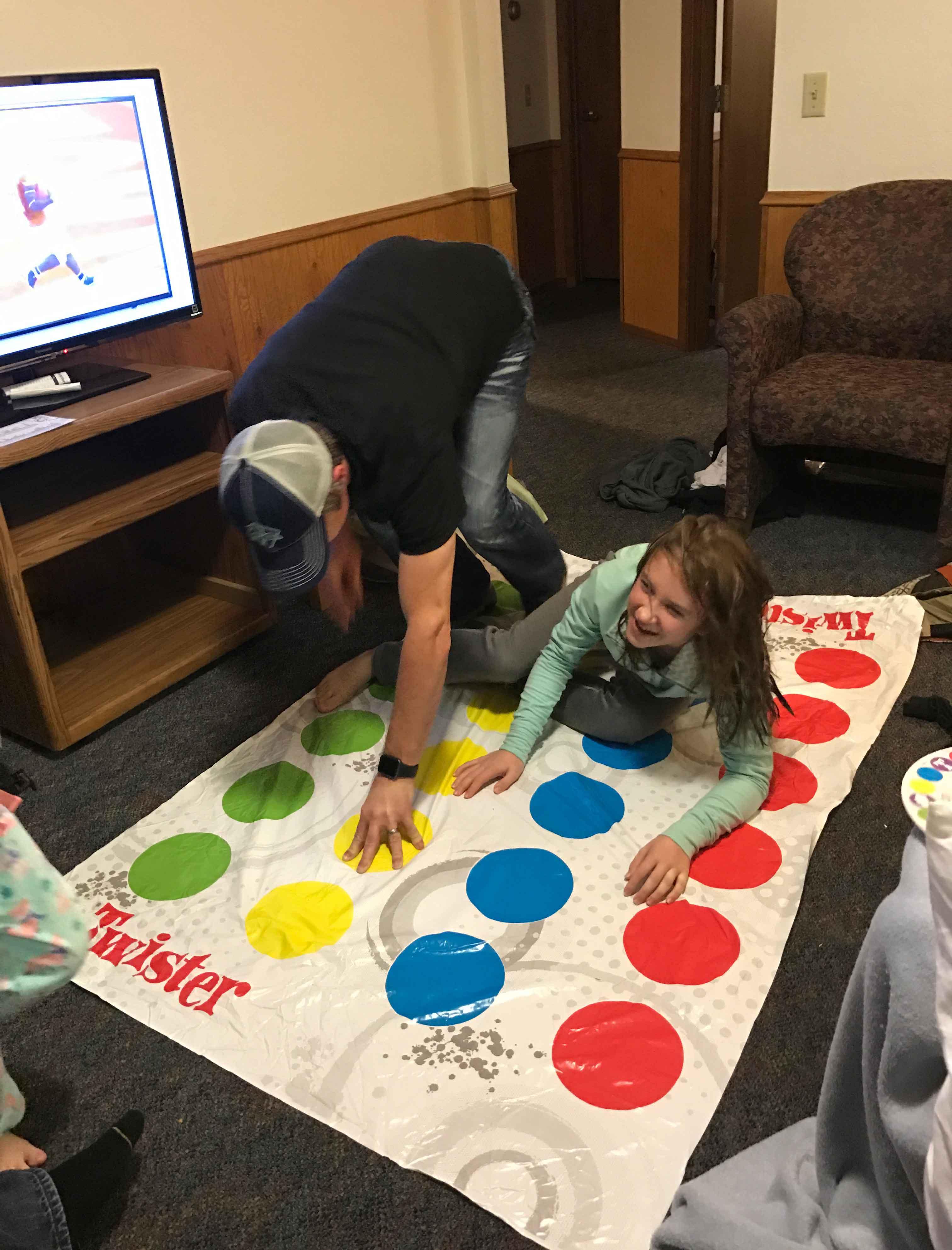 Making Memories at Cragun's Playing Twister