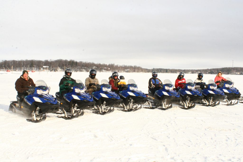 Snowmobiling at Cragun's Resort in Brainerd Minnesota