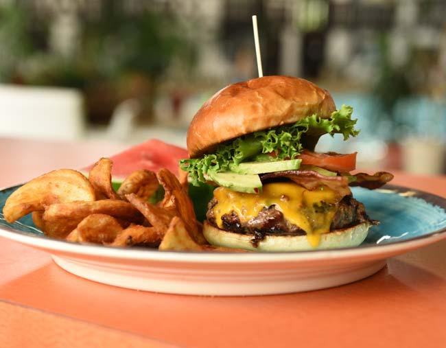 Burger from Cragun's Cabana Café