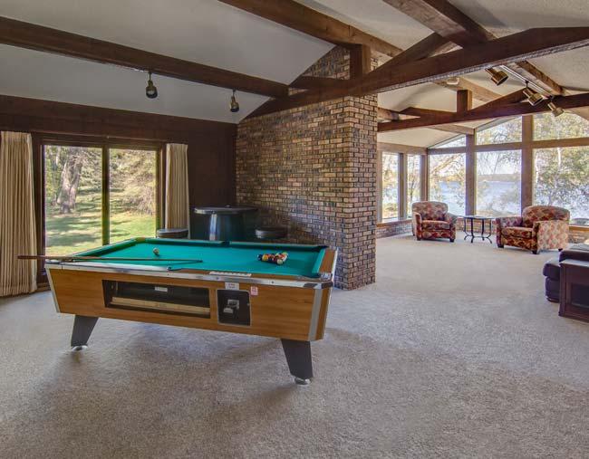 Pool Table in Cragun's Cabin 115
