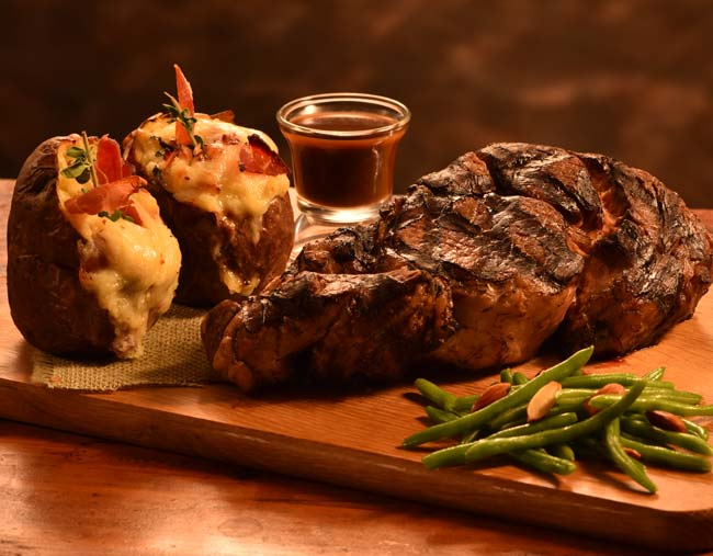 Delicious Steak Entree for Two at Irma's Kitchen at Cragun's Resort
