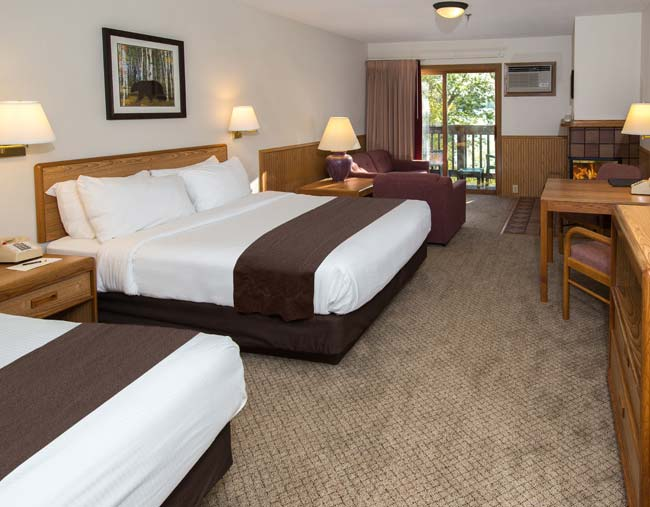 Renovated Cragun's Resort Lodge Room