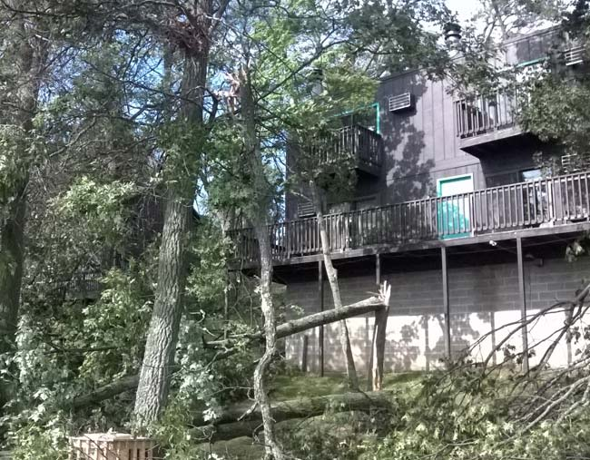 Storm Damage at Cragun's Resort MN