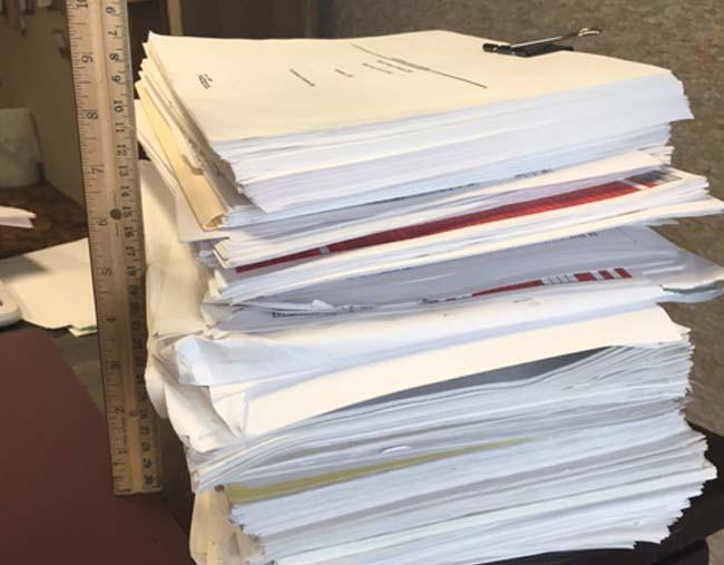 Cragun's Resort Storm Damage Paperwork