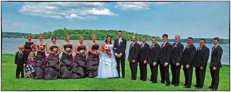 Lakeside wedding at Cragun's Resort in Brainerd, MN