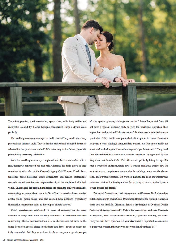 Tanya + Cole Wedding at Cragun's Legacy in Brainerd, MN - Page 5
