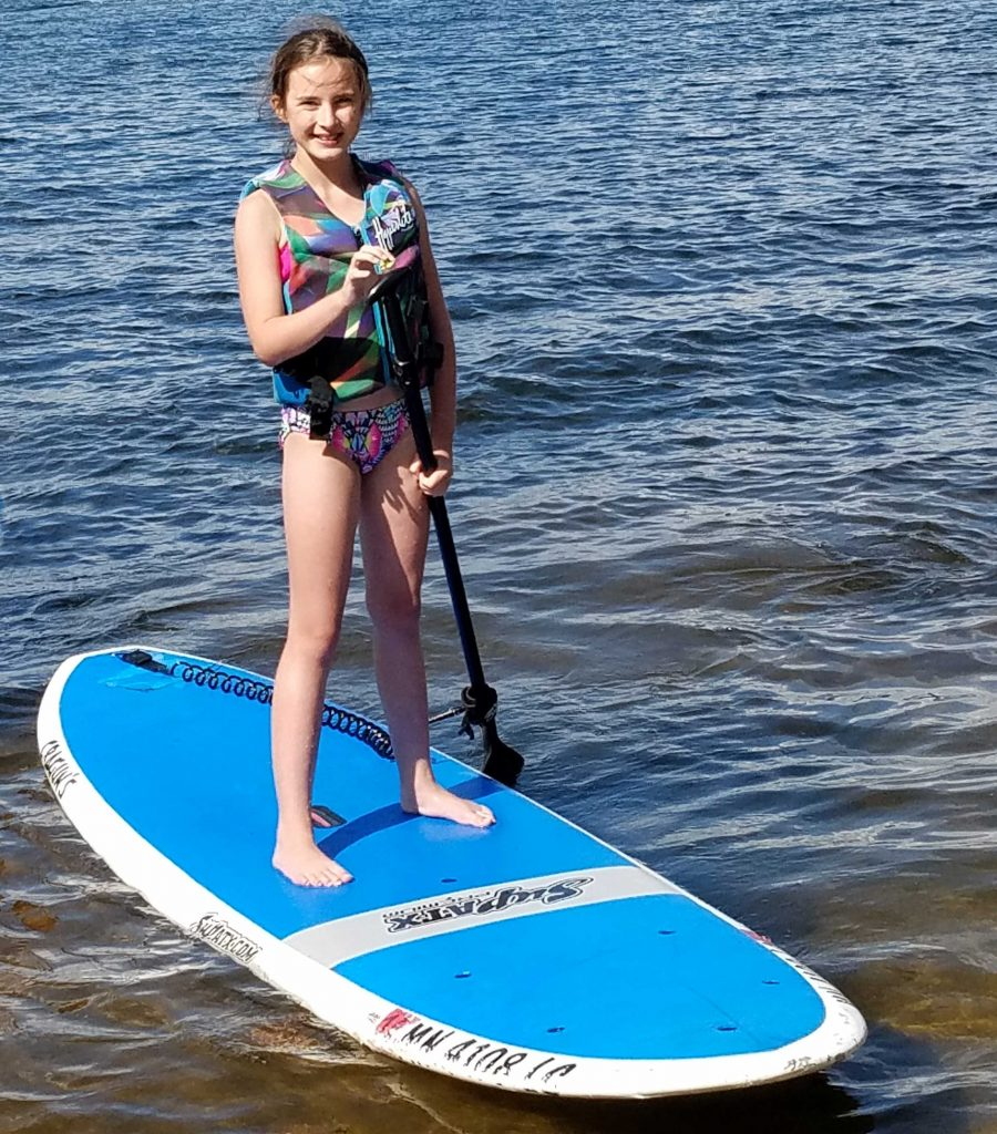 Standup paddle boarding at Cragun's Resort