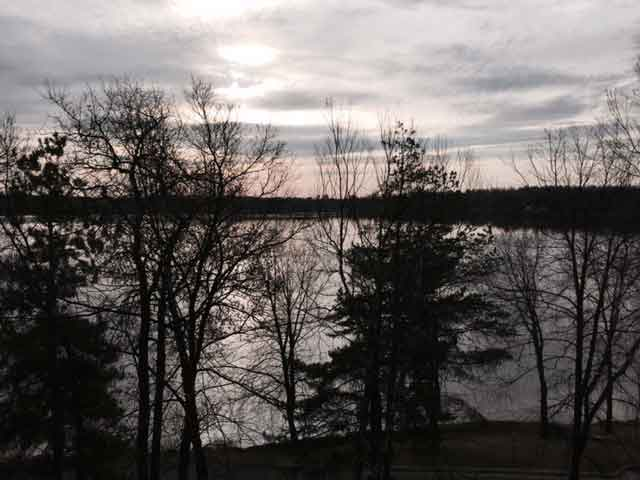 View from our Lakeview Room at Cragun's Resort in Brainerd, MN