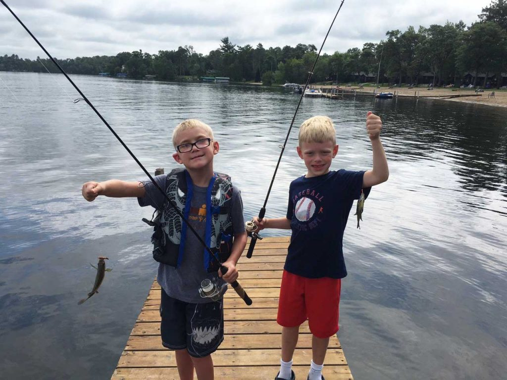 Fishing off Cragun's Resort docks