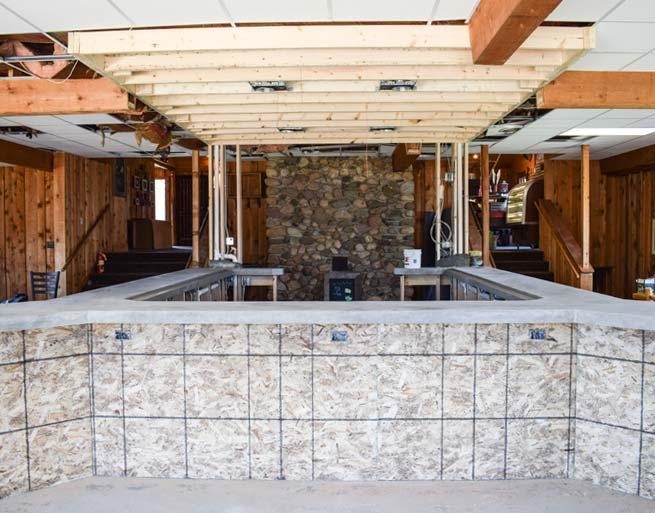 Irma's Kitchen at Cragun's New Bar Under Construction