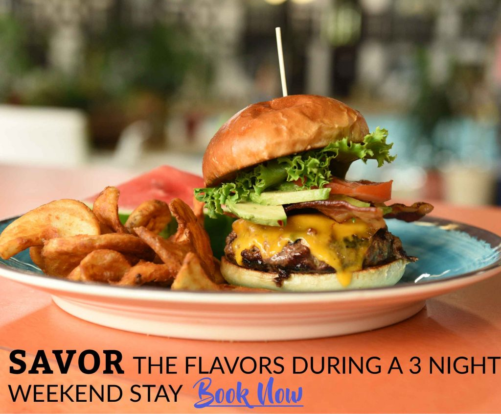 Savor the flavors during a 3 night weekend stay