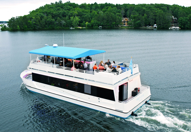 Top 10 things to do in Brainerd MN this summer is coming aboard the Gull Lake Cruises yacht the North Star