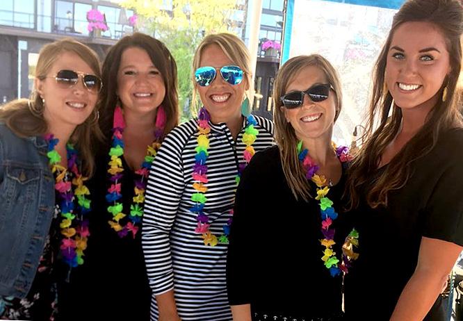 Women celebrating on a Gull Lake Cruise