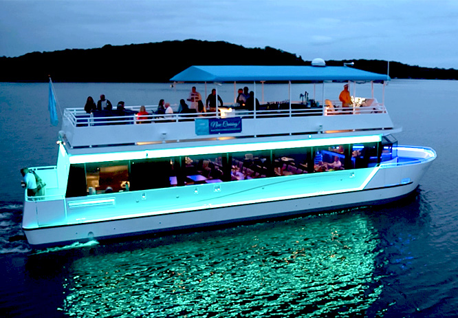 Evening cruise on the Gull Lake Cruises yacht North Star