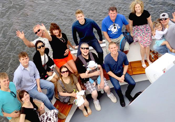 Family reunion enjoyed aboard a Gull Lake Cruise