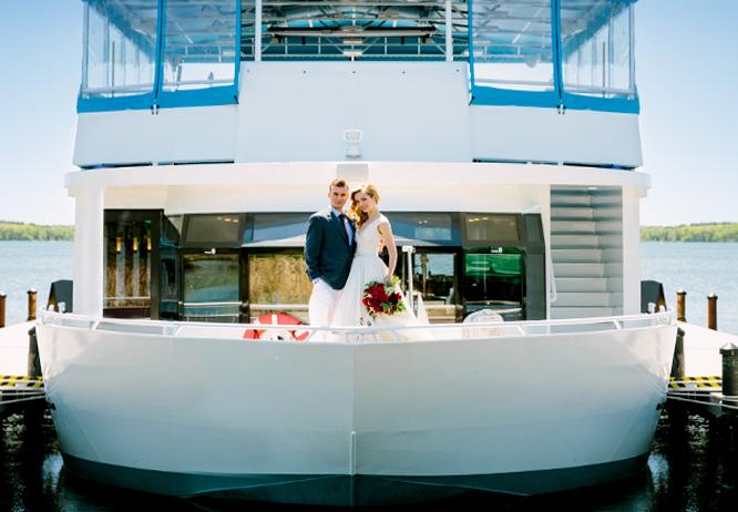 Wedding aboard the Gull Lake Cruises yacht, North Star