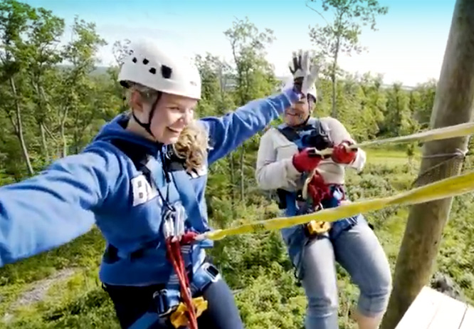 Top 10 things to do in Brainerd MN this summer is zip lining at Brainerd Zip Line Tour