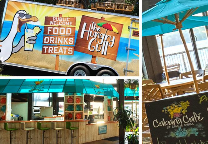 Cragun's Hungry Gull food cart and Cabana Cafe