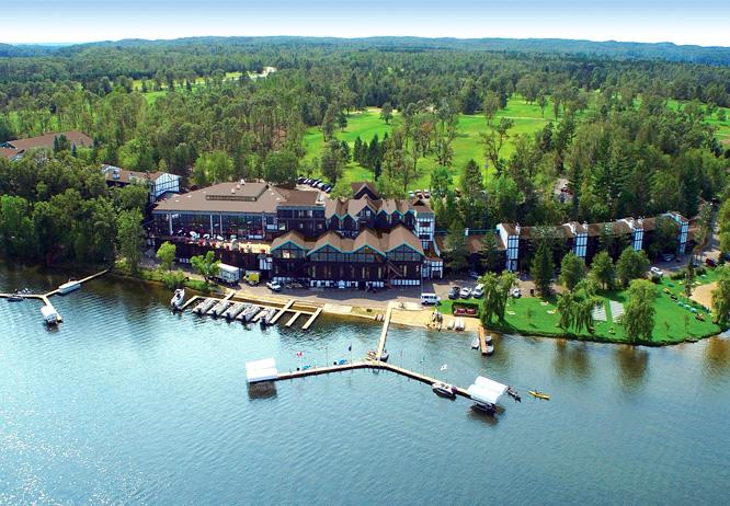 Aerial of Cragun's Resort on Gull Lake in Brainerd, MN