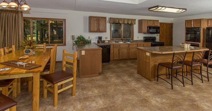 The interior of one of the family reunion vacation rentals available at Cragun's Resort