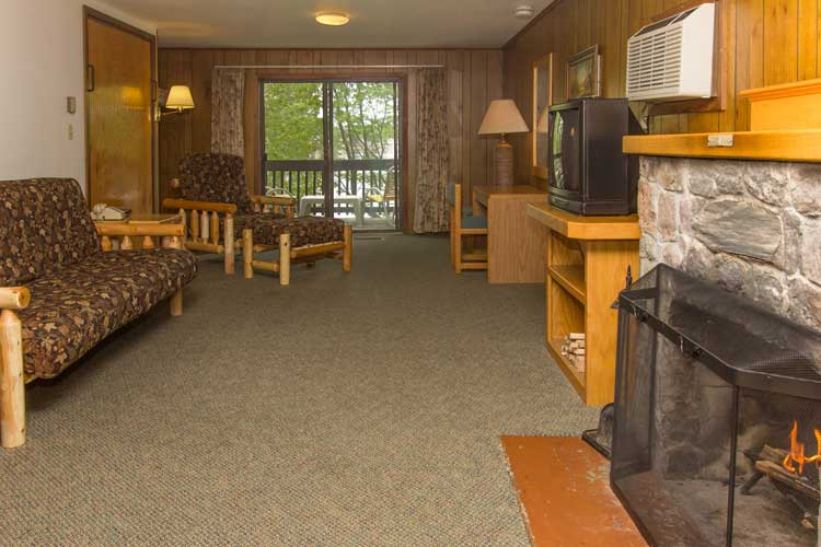 An interior view of Brainerd cabins at Cragun's Resort