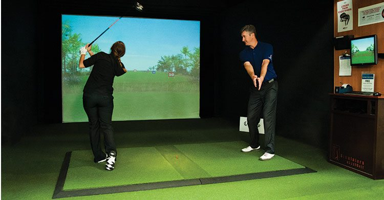 The Minnesota golf simulator at Cragun's Resort